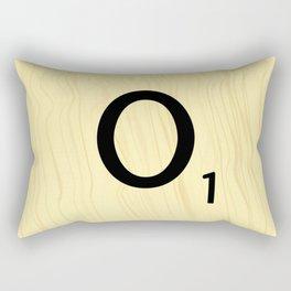 Scrabble O - Large Scrabble Tile Letters Rectangular Pillow