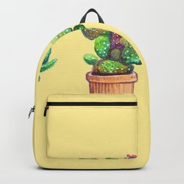 Cactus on Yellow Backpack