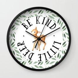 Be Kind Little Deer Wall Clock