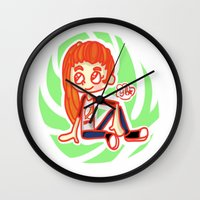sport Wall Clocks featuring Sport Girl by Glopesfirestar