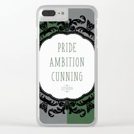 Slytherin Pride Clear iPhone Case