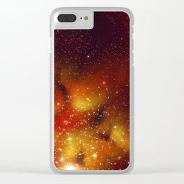 Red Nebula Clear iPhone Case