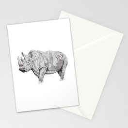 Northern White Rhino Stationery Cards
