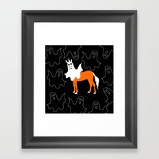 Boo Unicorn Framed Art Print