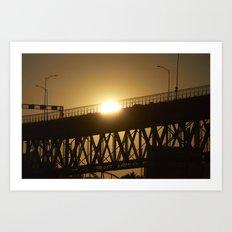 Sunshine on bridge of Montreal Art Print
