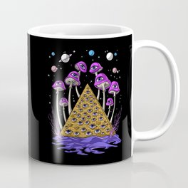 Psychedelic Egyptian Pyramid Coffee Mug