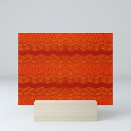 September Curves (Hot Lava) Mini Art Print