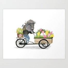 bakfiets buffalo Art Print