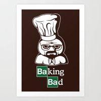 baking Art Prints featuring Baking Bad by Mike Handy Art