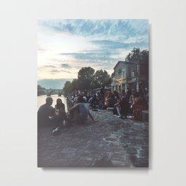 Les Quai de Seine: Summer in Paris II Metal Print