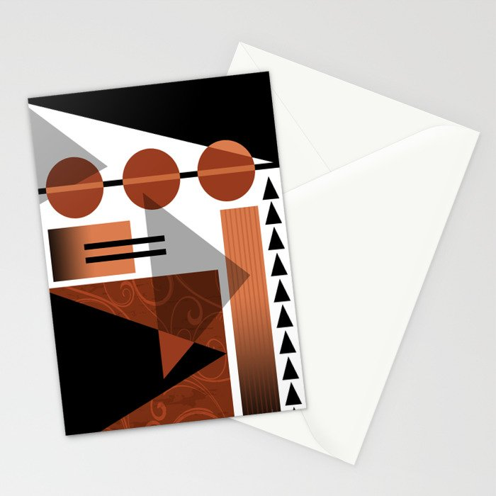 AZTEC DESERT | brown Stationery Cards
