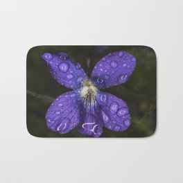Rain Drop Violet Bath Mat
