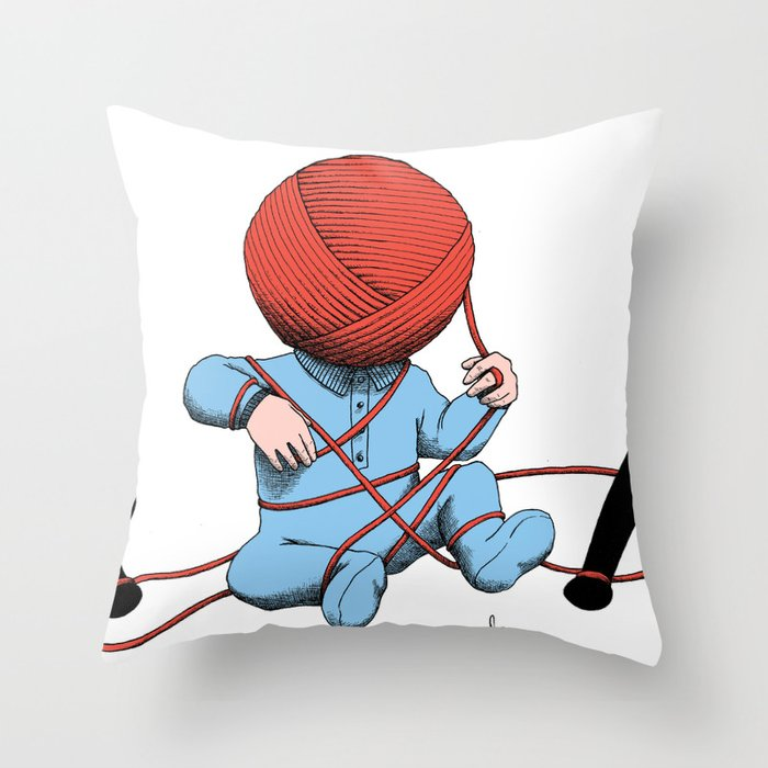 Mankind Throw Pillow