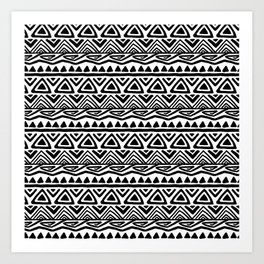 BOHO ETHNIC PATTERN 2 Art Print