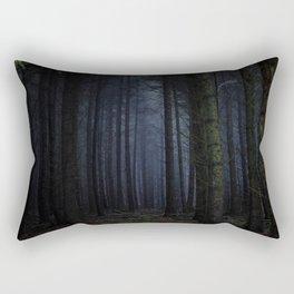 The Dark & Eerie Woods (Color) Rectangular Pillow