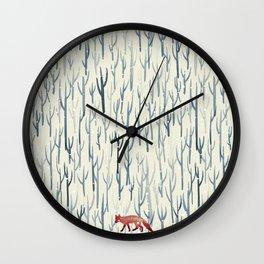 Winter Wood Wall Clock
