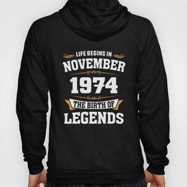 November 1974 44 the birth of Legends Hoody