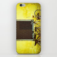 bicycles iPhone & iPod Skins featuring Bicycles by The Dalai Lomo