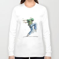 dancing Long Sleeve T-shirts featuring dancing by digiartpicture