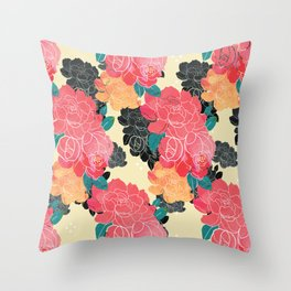 China floral Throw Pillow