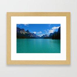 """""""Hall of Gods"""" Maligne Lake in Jasper National Park, Canada Framed Art Print"""