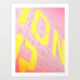 Street Colors Lettering Art Print
