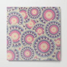 Mandala 390 (Floral) Metal Print