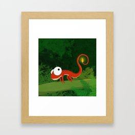 Fire Gecko Framed Art Print