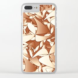 Pattern brown 156 Clear iPhone Case