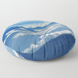 Mountains and Clouds in Nepal Floor Pillow