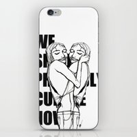 cuddle iPhone & iPod Skins featuring Cuddle by Natalie Sichko