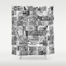 The Letter G Shower Curtain