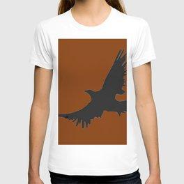 COFFEE BROWN FLYING BIRD SILHOUETTE T-shirt