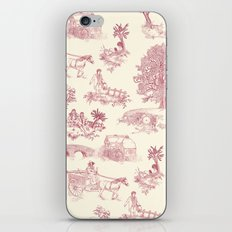 Shire Toile - Red iPhone & iPod Skin