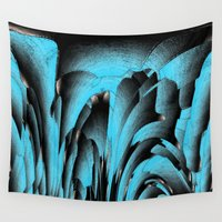mineral Wall Tapestries featuring Turquoise mineral by Gaspar Avila