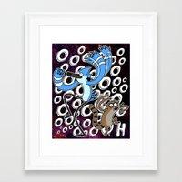 regular show Framed Art Prints featuring Regular Show OOOOH! by Metal_Sonic