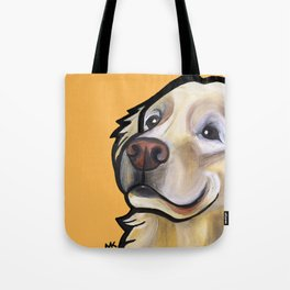 George the golden retriever (orange) Tote Bag