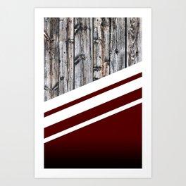 Rustic Wood Cherry Art Print