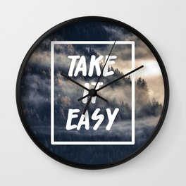 Take it easy on the mountains! Wall Clock