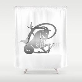 Capricorn the Goat - Zodiac Sign Shower Curtain