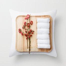 Spa treatment concept Throw Pillow
