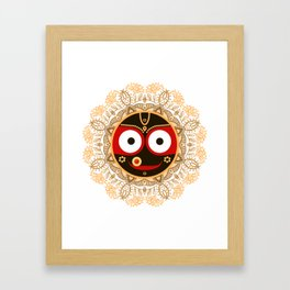 Jagannath. Indian God of the Universe. Lord Jagannatha. Framed Art Print