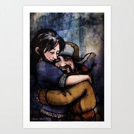 A Hug For Bofur Art Print