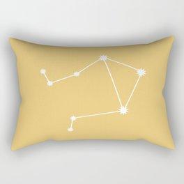 Libra Zodiac Constellation - Golden Yellow Rectangular Pillow