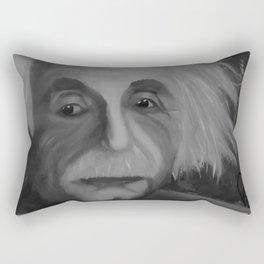 Albert Einstein, Original painting by Lu, black-and-white Rectangular Pillow