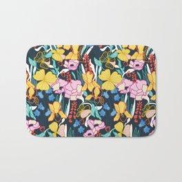 Tropical Flower Gardens Bath Mat