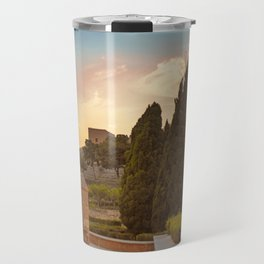 Sunset in castle La Alcazaba Travel Mug
