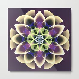 Fantasy flower on a purple background Metal Print