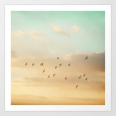 Flock of Seventeen Art Print