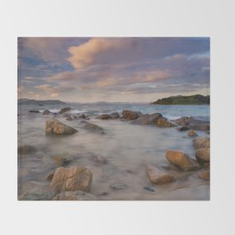 Colourful Ocean Scene Throw Blanket